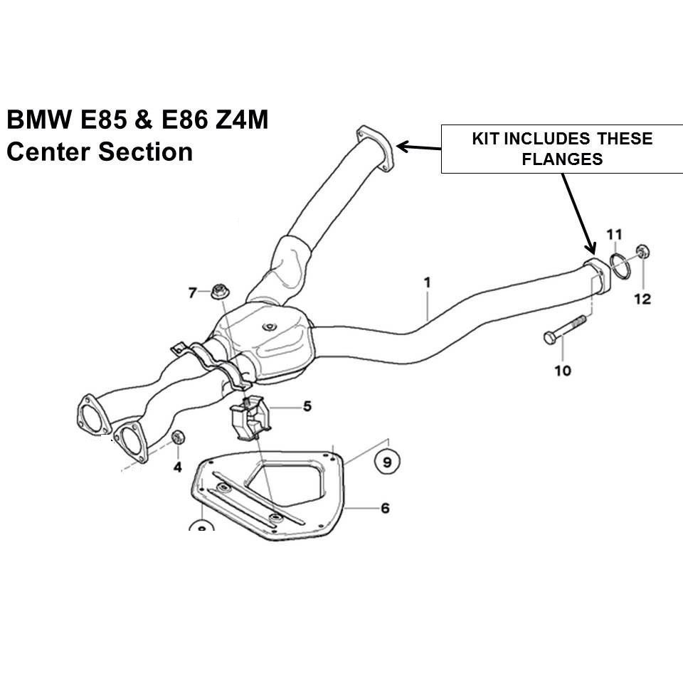 bmw m3 exhaust flange repair kit